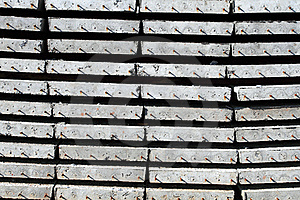 Stack Of Concrete Plates Stock Image - Image: 17321011