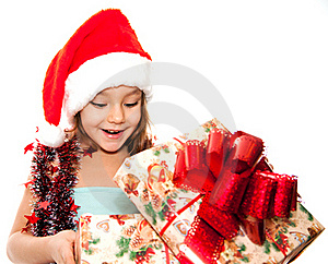 Little Girl At Christmas Time Royalty Free Stock Photography - Image: 17322967