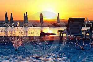 Resort, Tropical Sunset Royalty Free Stock Photography - Image: 17323437