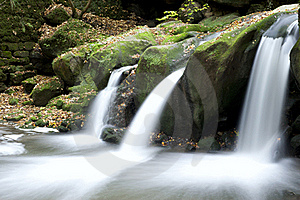 Autumn Forest Waterfall Royalty Free Stock Photography - Image: 17323717