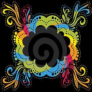 Colorful Ornamental Frame Stock Photo - Image: 17324940