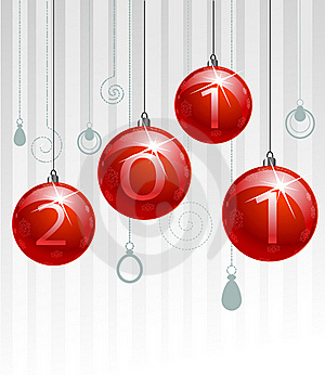 Red Christmas Balls Stock Images - Image: 17325034