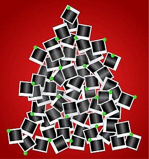 Tree Made By Polaroid Photos Stock Photos - Image: 17325103