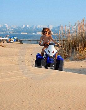 Woman On Motobike Royalty Free Stock Photography - Image: 17325267