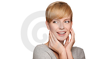 Portrait Of A Beautiful Blond Woman Stock Images - Image: 17326944