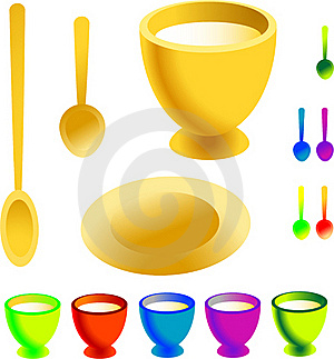 Collection Of Dishware Menu Template Royalty Free Stock Photo - Image: 17326955