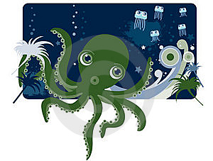 Deep Sea Octopus Royalty Free Stock Images - Image: 17331349