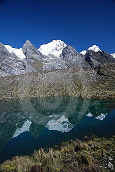 Azure Lake With Mountain Reflection Royalty Free Stock Image - Image: 17331966