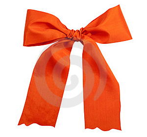 Shiny Pink Satin Holiday Ribbon And Bow Royalty Free Stock Image - Image: 17332086