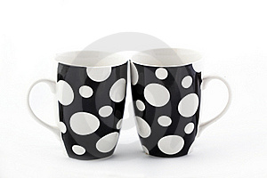 Two Dot Cups Royalty Free Stock Images - Image: 17332109