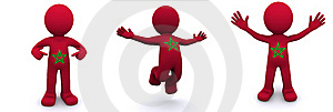 3d Character Textured With Flag Of Morocco Stock Photos - Image: 17334343
