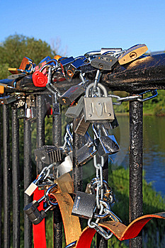 Lock On Banisters Royalty Free Stock Photos - Image: 17336038
