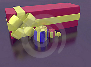 Rendered Of Presents Royalty Free Stock Photos - Image: 17336498