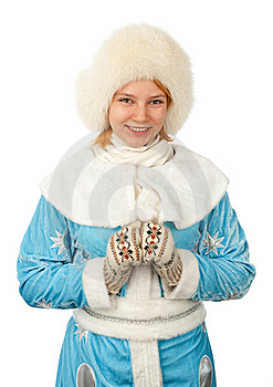 Young Woman In Snow Maiden Costume Royalty Free Stock Image - Image: 17336546