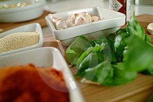 Basil Curry And Garlic - Mediterranean Taste Stock Photo - Image: 17336860
