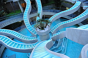 Spiralling Water Feature Royalty Free Stock Photos - Image: 17336878