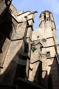 Barcelona.Fragment Of A Gothic Cathedral. Stock Images - Image: 17337714