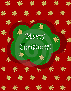 Christmas Card With Stars Stock Images - Image: 17337884