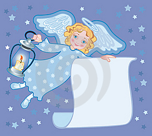 Angel With A Lantern Royalty Free Stock Photos - Image: 17338108