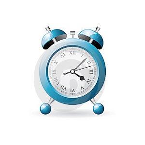 Blue Old Style Alarm Clock Royalty Free Stock Photos - Image: 17338238