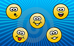 Personages Emotions Royalty Free Stock Images - Image: 17338629
