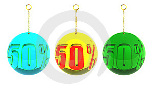 50 Percent Balls On Chains Royalty Free Stock Image - Image: 17339186
