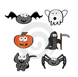 Cute Halloween Characters Stock Images - Image: 17339614