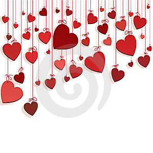 Romantic Background With Hearts Stock Photo - Image: 17339870