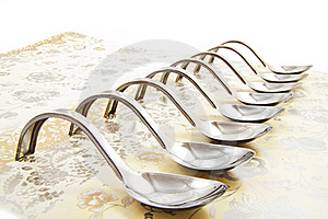 Amuse Spoons Stock Image - Image: 17340081