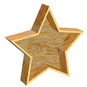 3d Wooden Star Royalty Free Stock Images - Image: 17340159