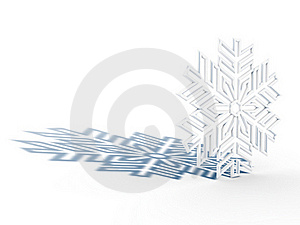 Snowflake With Shadow Stock Photo - Image: 17341030
