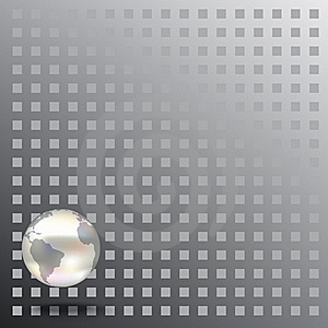 Abstract Background With Globe On Grey Stock Photo - Image: 17342810