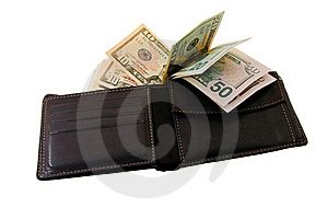 Purse With Money Stock Images - Image: 17345644