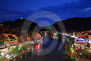 Night Of Fenghuang Royalty Free Stock Image - Image: 17349366