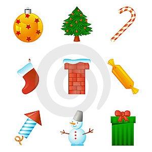 Christmas Icon Set Royalty Free Stock Image - Image: 17350086