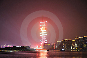 Fireworks Of The 16th Asian Games Stock Images - Image: 17351214