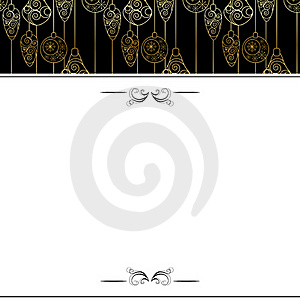 Christmas Background With Contour Hanging Balls Royalty Free Stock Photography - Image: 17351597