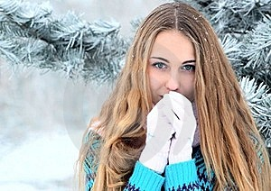 Portrait Of Teenage Girl In Winter Park Royalty Free Stock Image - Image: 17351646