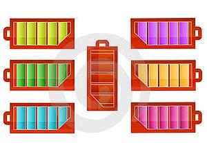 Battery Icons  Set Royalty Free Stock Image - Image: 17351686