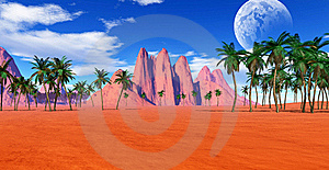 Colorful Tropical Landscape Royalty Free Stock Images - Image: 17352159