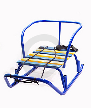 Children's Sled From The Tubes Stock Images - Image: 17352904