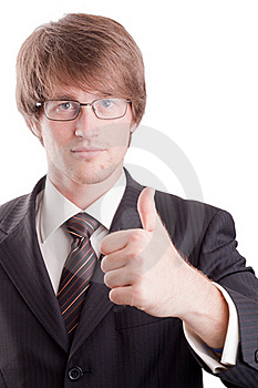Business Man With Good Sign Stock Image - Image: 17356771