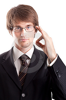 Business Man With Okay Sign Stock Photography - Image: 17356802