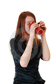 Girl Drinking Coffee. Stock Photos - Image: 17357013