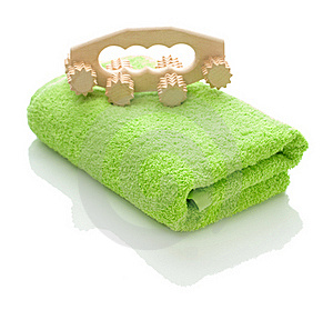 Towel And Massager Stock Photos - Image: 17357393