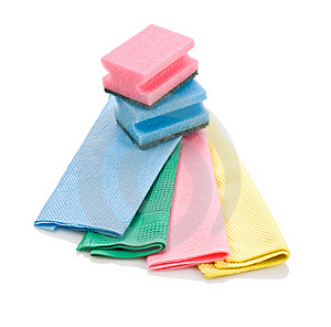 Cleaning Rags And Sponge Royalty Free Stock Photos - Image: 17358878