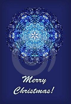Snowflake Christmas Card Stock Images - Image: 17362874