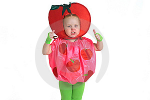 A Child In Vegetable Costume Royalty Free Stock Images - Image: 17366149