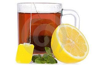 Tea With Mint And Lemon Stock Image - Image: 17366621