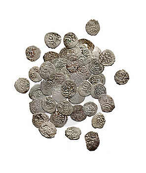 Old Medieval Turkish And Tatar Coins Stock Photography - Image: 17369192